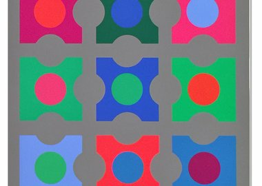 work by Victor Vasarely - Code (Les Bleus)