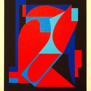 Red And Blue Composition art for sale