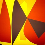different view - Victor Vasarely, Brown And Yellow Composition - 3