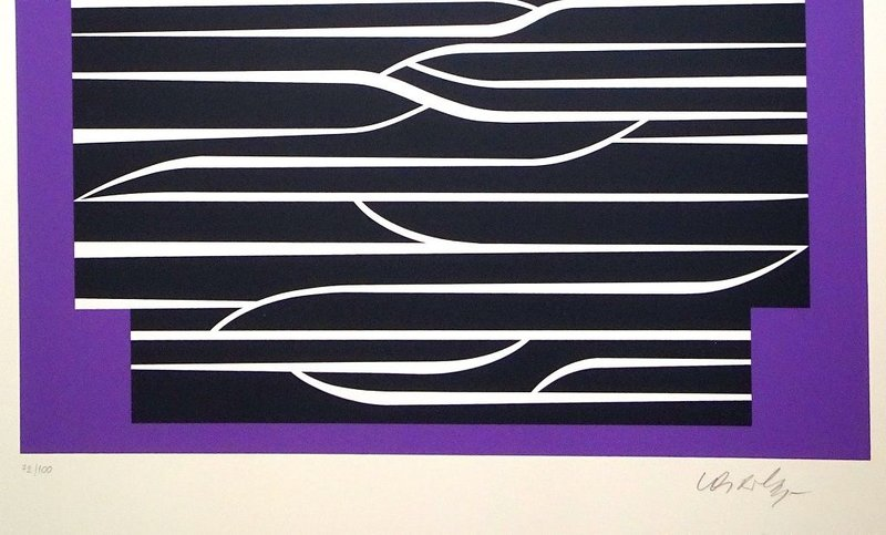 view:22756 - Victor Vasarely, Purple Composition -