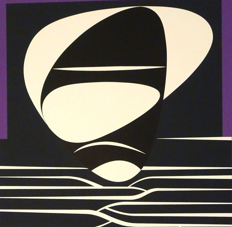 view:22757 - Victor Vasarely, Purple Composition -