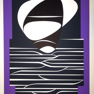 Victor Vasarely, Purple Composition