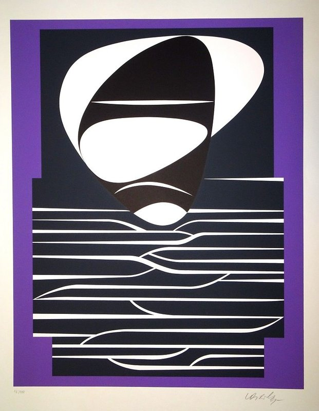 main work - Victor Vasarely, Purple Composition