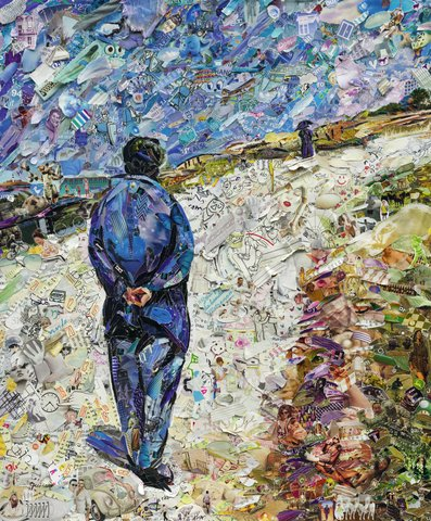 Vik Muniz - Father Magloire on the Road between Saint-Clair and Etretat, after Gustave Caillebotte