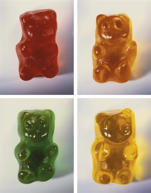 Vik Muniz, Gummy Bears (set of 4)