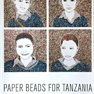 Paper Beads for Tanzania (Hand Signed) art for sale