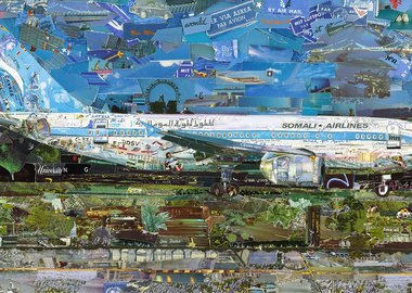 work by Vik Muniz - Jetliner