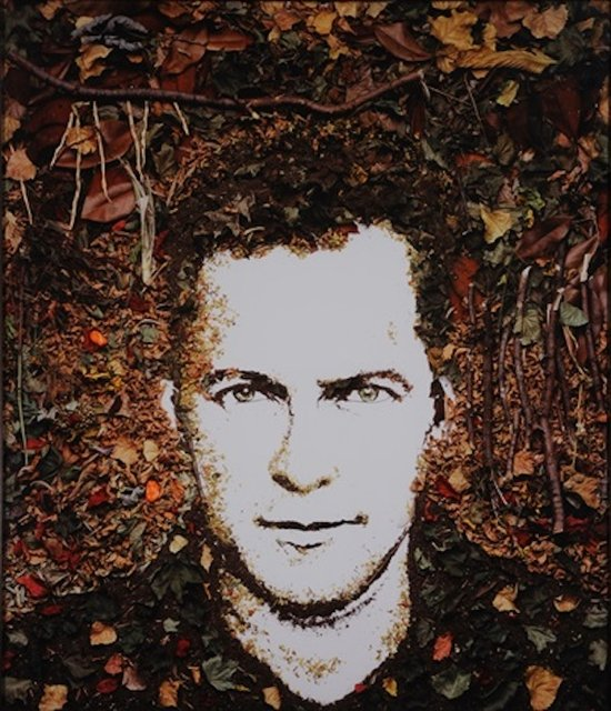 Vik Muniz, Self Portrait (Fall no.2)