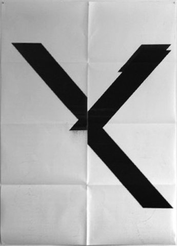 Wade Guyton - Untitled (X Poster)