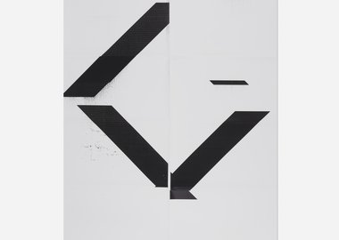 work by Wade Guyton - X Poster (Untitled, 2007, Epson UltraChrome ink...
