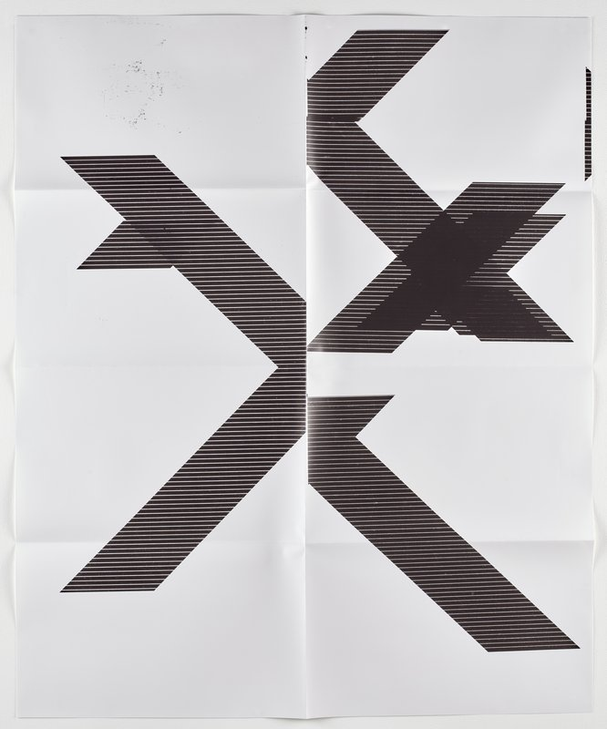 Wade Guyton, X Poster (Untitled, 2007, WG1210)