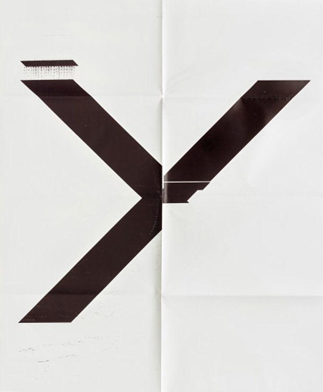 main work - Wade Guyton, X Poster (Untitled, 2007, Epson UltraChrome inkjet on linen, 84 x 69 inches, WG1211), 2019