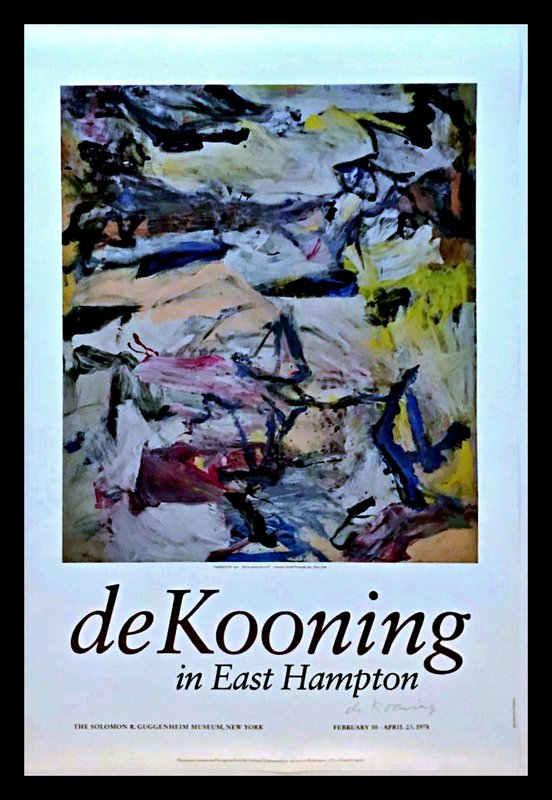 by willem_de_kooning - de Kooning in East Hampton (Hand Signed by de Kooning)