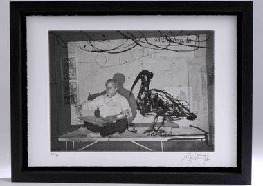 work by William Kentridge - Scribe with ibis