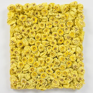 Willie Cole, Yellow Bed (Wasteland Series)