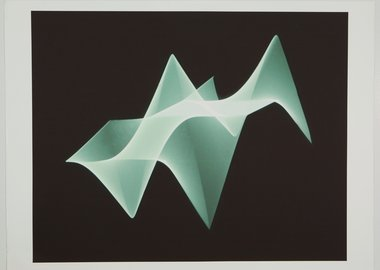 work by Woody Vasulka - Waveform Studies XXI