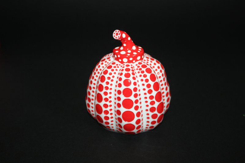 by yayoi_kusama - Pumpkin (Red and White)