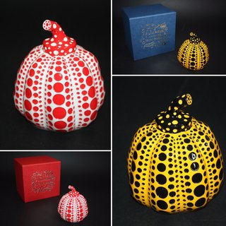 Yayoi Kusama, Set of two Pumpkins (Yellow and Red)