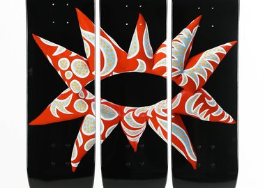 Yayoi Kusama - Flowering Heart Limited Edition Skateboards (Triptych)