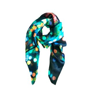 Infinity Silk Scarf art for sale