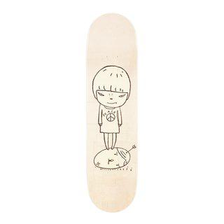 Peace Girl Skateboard Deck art for sale