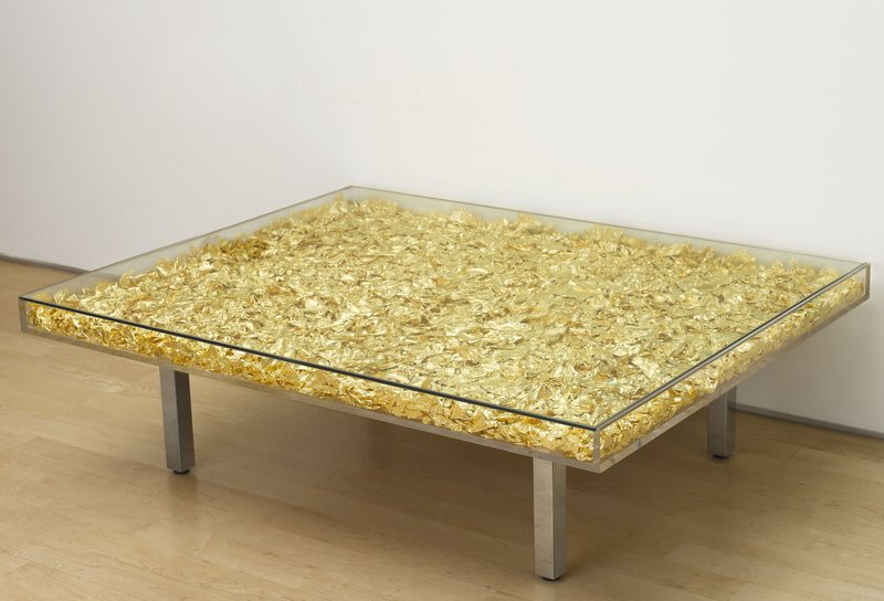 Yves klein monogold table for sale artspace for Table yves klein
