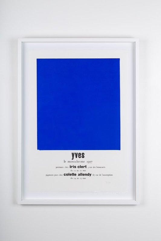 main work - Yves Klein, Yves le Monochrome