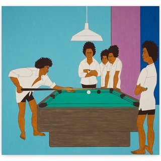 5 Boys at the Pool Table art for sale