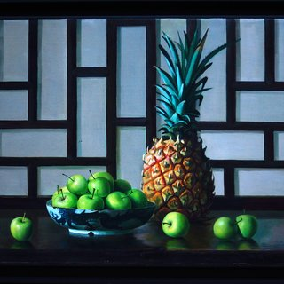 Pineapple and Apples art for sale