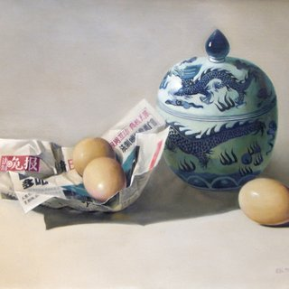 Fresh News/Eggs and Ceramics art for sale
