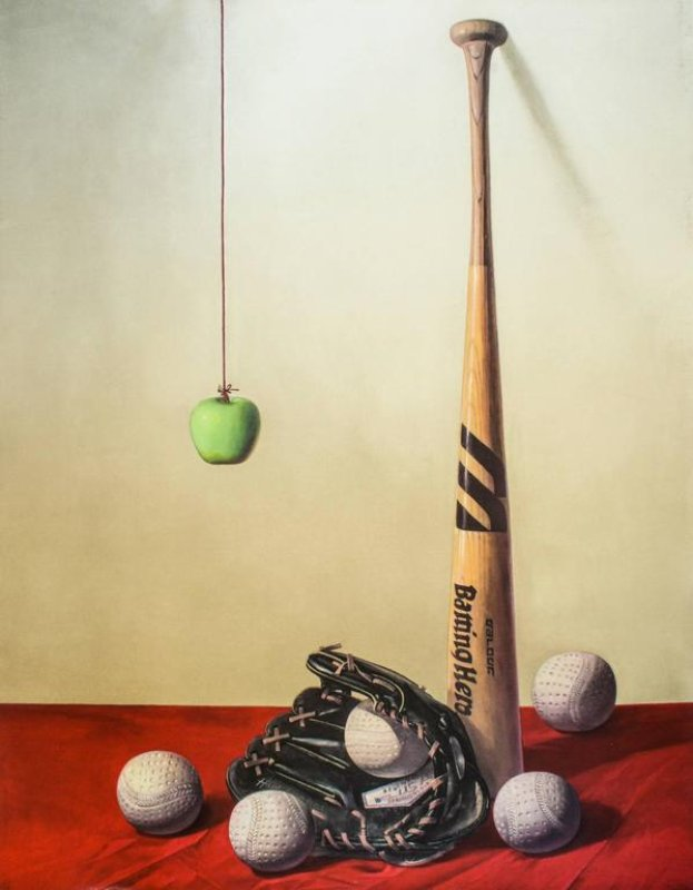 main work - Zhang Wei Guang (Mirror), Baseball