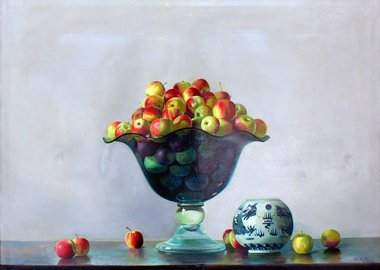 work by Zhang Wei Guang (Mirror) - Crystal Vase with Apples