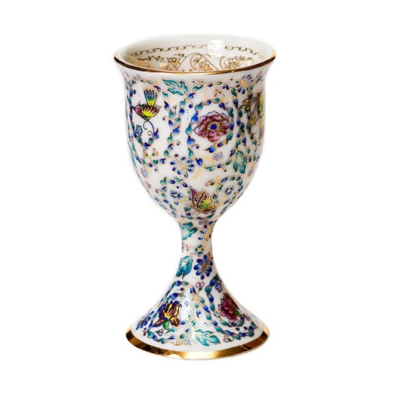 Zvezdin S Workshop Garden Of Eden Painted Kiddush Cup Wine Goblet For Sale Artspace
