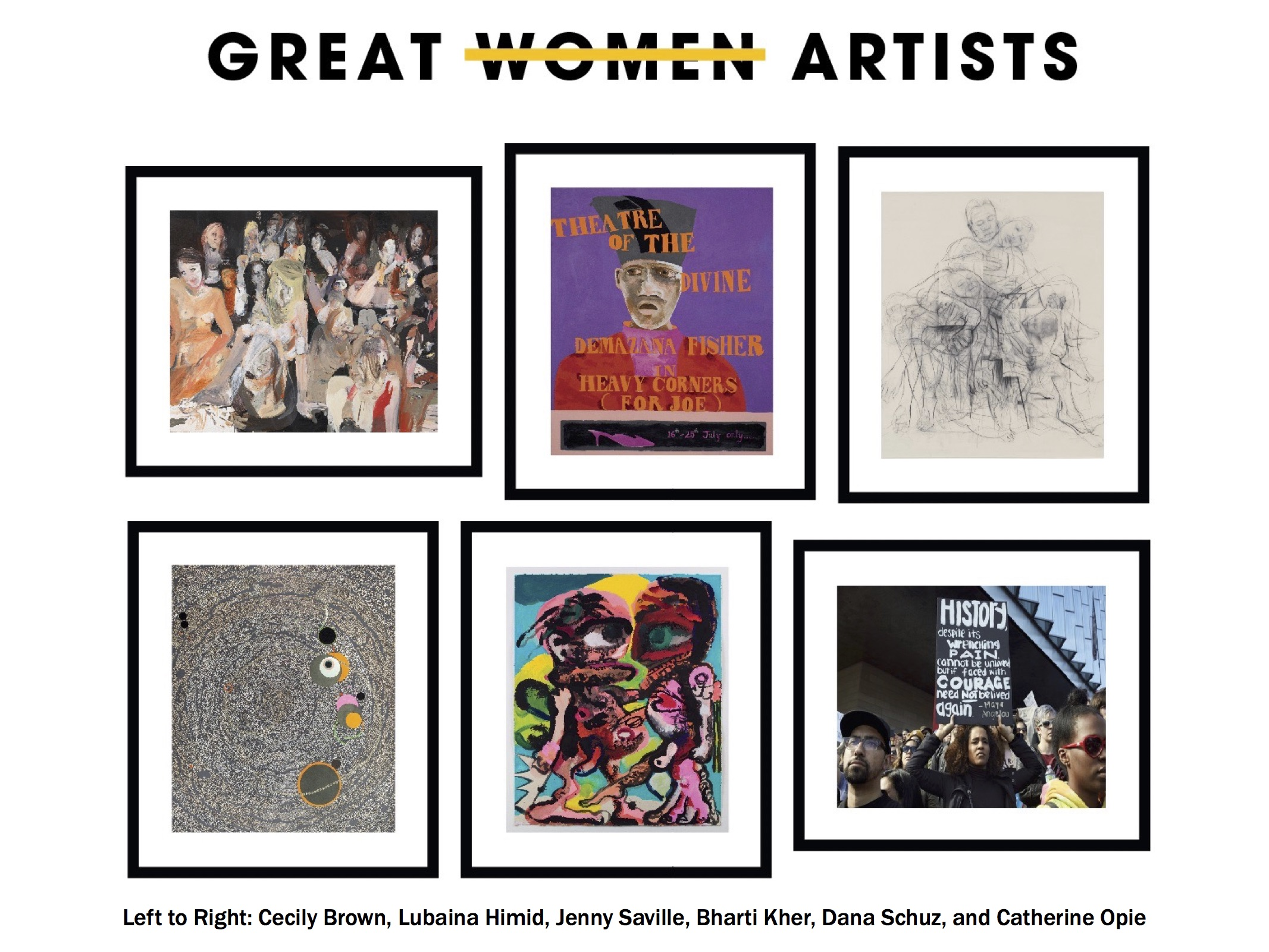 Great Women Artists Charitable Portfolio of Prints
