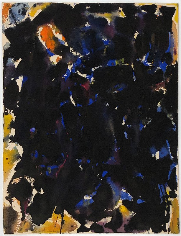 show image - Untitled (Blue-Black) (SF55-145), 1955