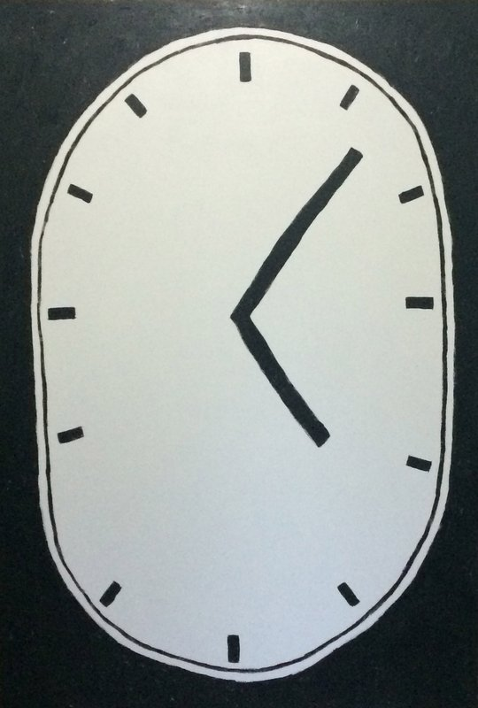 show image - Untitled (Clock Painting after Jim Dine)