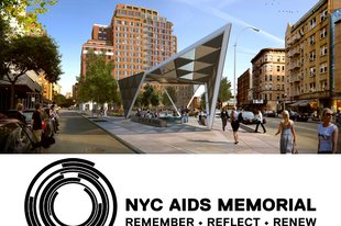 NYC AIDS Memorial art gallery