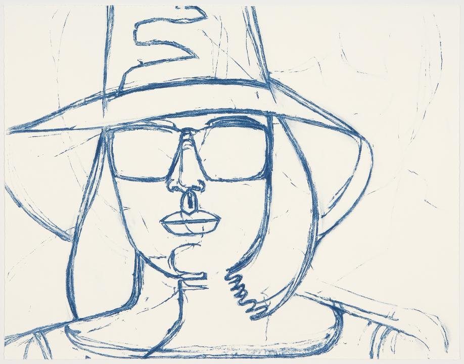 by alex_katz - White Hat and Sunglasses