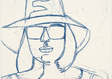 work by Alex Katz - White Hat and Sunglasses