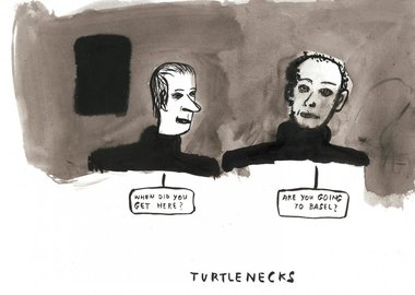 work by Amy Sillman - Turtlenecks
