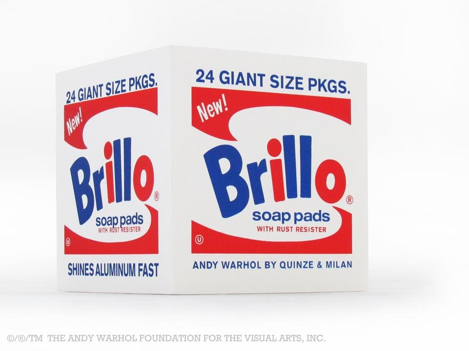by after-andy-warhol - Brillo Box POUF White