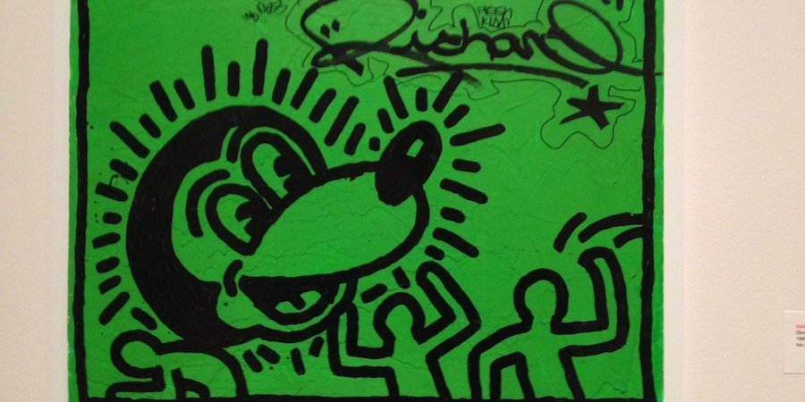 An untitled Keith Haring from 1982 in the graffiti art show