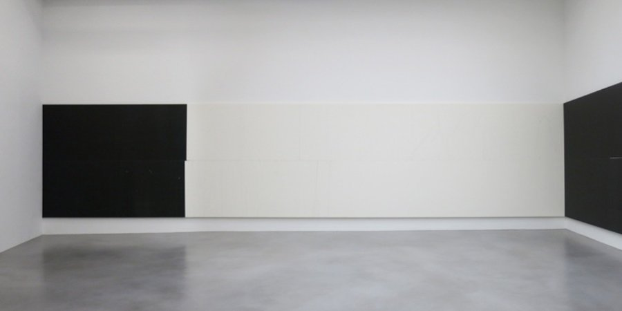 Wade Guyton's untitled installation at Friedrich Petzel