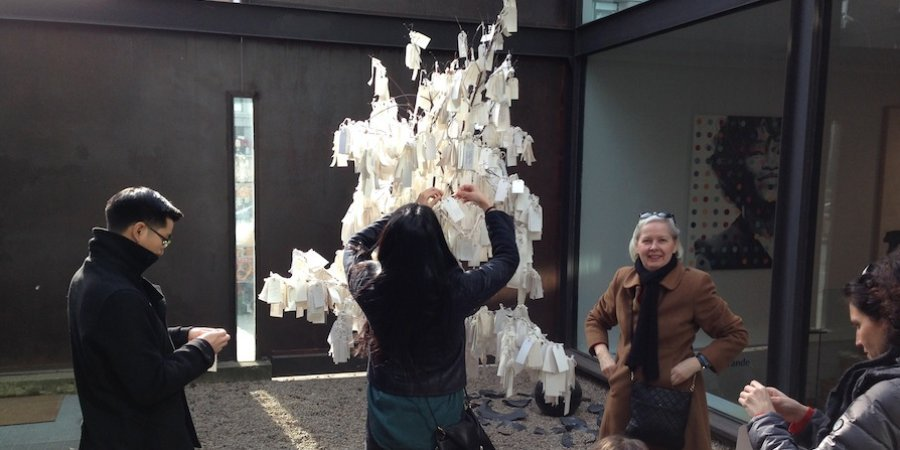 Enjoying the Yoko Ono <em>Wish Tree</em> in Chelsea