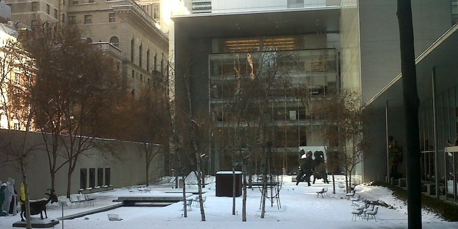 A peaceful moment in MoMA's private sculpture garden... dun dun DUN!