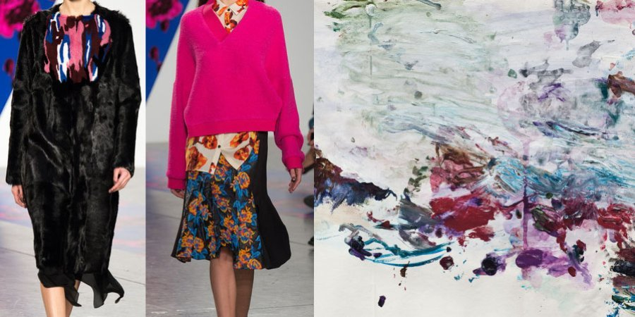 Thakoon Panichgul says he was influenced by American painter Cy Twombly, whose work incorporates bright colors and childlike scribbles.