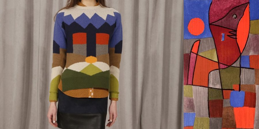 Novis draws on the graphic patterns of the painter Paul Klee.