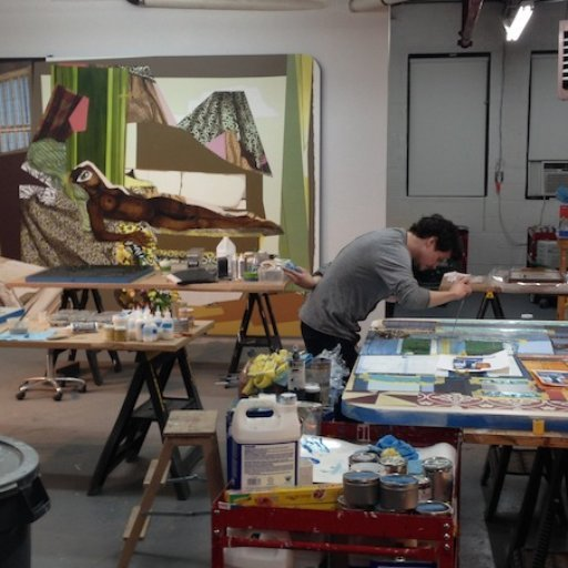 See Photos From Mickalene Thomas's Studio & More
