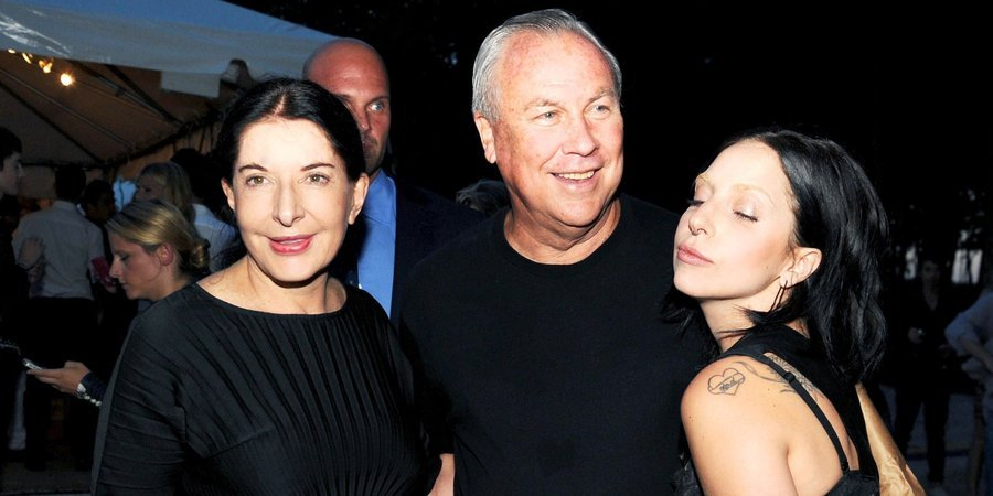 Marina Abramovic, Robert Wilson, and Lady Gaga join forces at the Watermill Center benefit, photo by Billy Farrell.