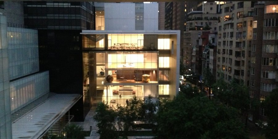 A view of the Taniguchi building from the MoMA terrace.